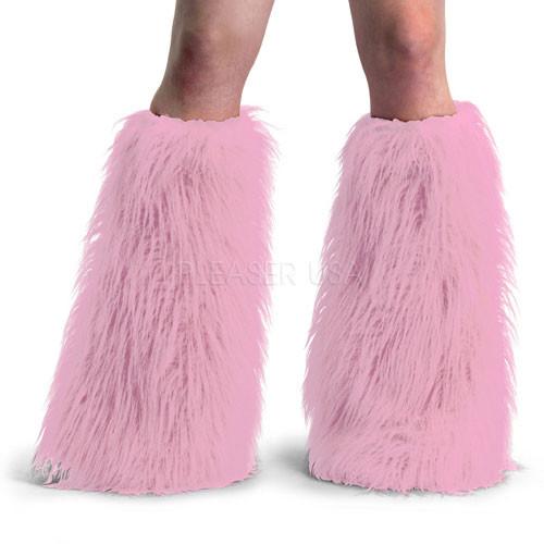 Pink Faux Fur Leg Warmers