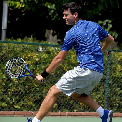 Male Tennis Player Wearing Black Sports Wristbands