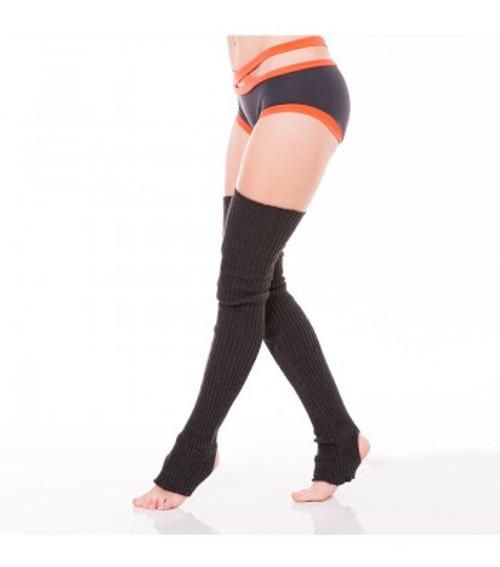 Dark Grey Acrylic Leg Warmers  2