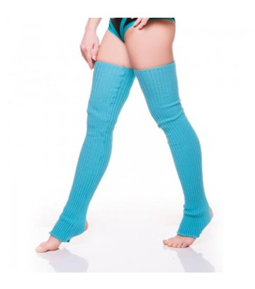 Turquoise Acrylic Leg Warmers 1
