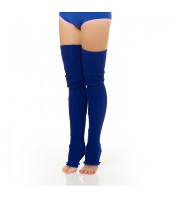 Electric Blue Acrylic Leg Warmers 1