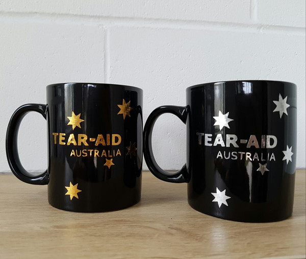 Tear Aid Type A (Gold) & B Coffee Mug (Silver) 3