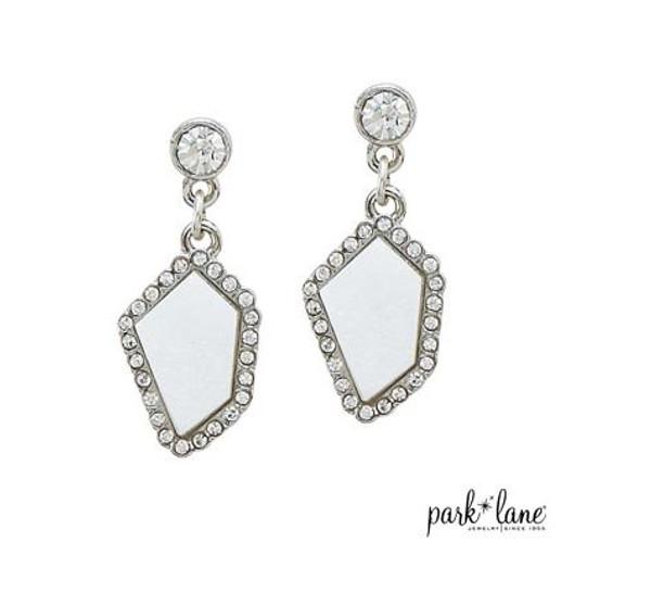 Silver Sand Stud Earrings