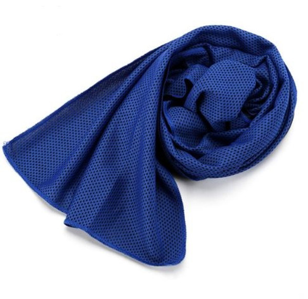 Navy Blue Microfibre Sports Towel 1