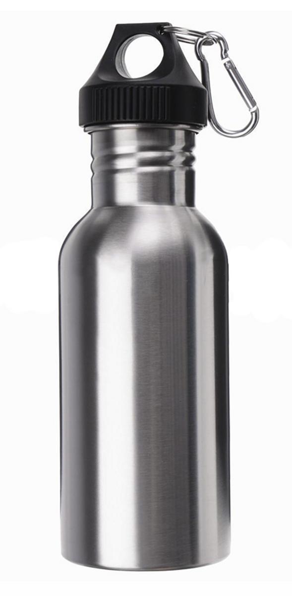 Silver Stainless Steel 750ml Water Bottle