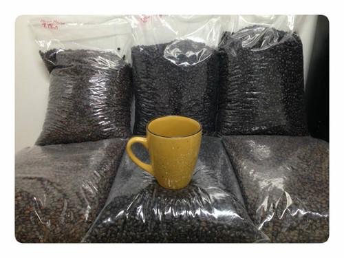 5 pound bulk box of RESERVE ROAST ultra premium coffee. WHOLE BEAN COFFEE