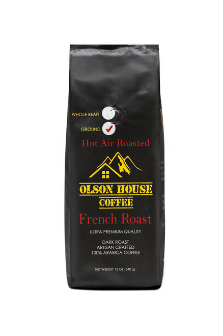 Olson House Coffee - Dark roast specialty coffee (French roast coffee). 12OZ BAG WHOLE BEAN COFFEE