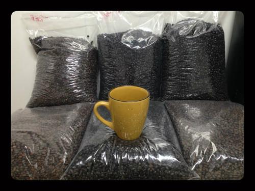 3 pound bulk box of FRENCH ROAST (Dark Roast) ultra premium coffee. GROUND COFFEE BEANS
