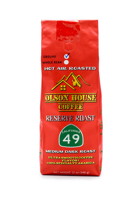 Olson House Coffee -  Reserve Roast 49. 12OZ BAG GROUND COFFEE BEANS