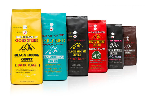 FREE SHIP 4 pack of specialty coffee types. 12OZ BAG GROUND COFFEE