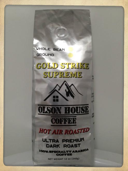 Gold Strike Supreme. 12OZ BAG WHOLE BEAN COFFEE