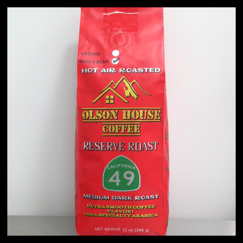 Olson House Coffee - Reserve Roast 49. 12OZ BAG WHOLE BEAN COFFEE