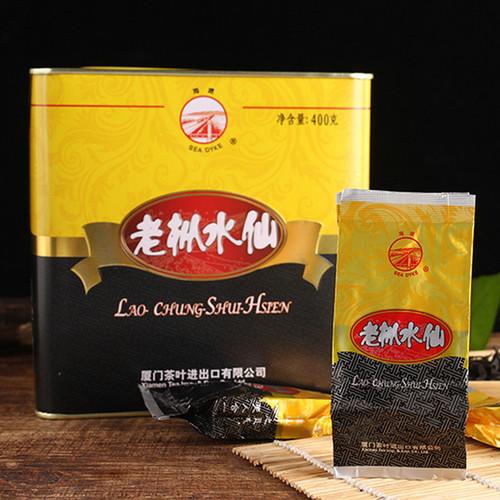 Sea Dyke Brand AT110 Fujian Nong Xiang Lao Cong Shui Xian Rock Yan Cha China Oolong Tea 400g Tin