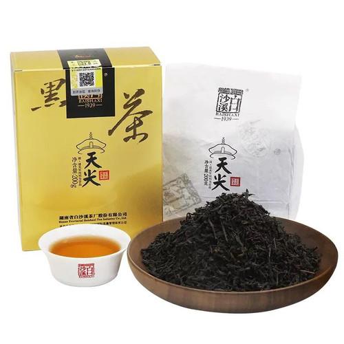 BAISHAXI Brand Brand Song Yan Xiang Hu Nan Anhua Tianjian Hei Cha Dark Tea 200g