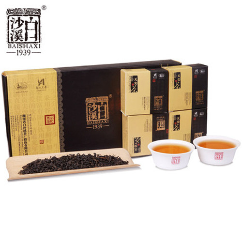 BAISHAXI Brand Huang Shi Gong Pin Hu Nan Anhua Tianjian Hei Cha Dark Tea 160g