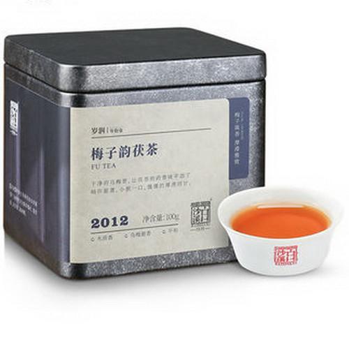 BAISHAXI Brand Wu Mei Xiang Hunan Anhua Golden Flowers Fucha Dark Tea 100g Brick