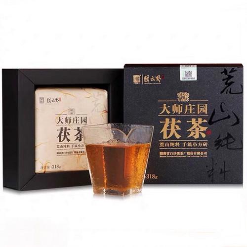 BAISHAXI Brand Da Shi Zhuang Yuan Hunan Anhua Golden Flowers Fucha Dark Tea 318g Brick