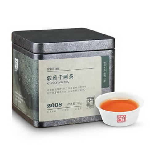 BAISHAXI Brand Dunya Tradition Qian Liang Cha Hunan Anhua Dark Tea 100g Brick