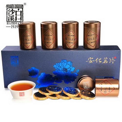 BAISHAXI Brand An Hua Ming Pian Hunan Anhua Dark Tea 240g Cake
