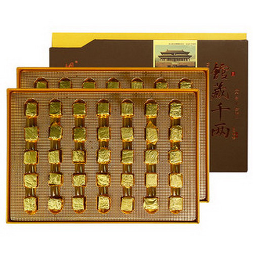 BAISHAXI Brand Qian Liang small Aurum Brick Hunan Anhua Dark Tea 530g Brick