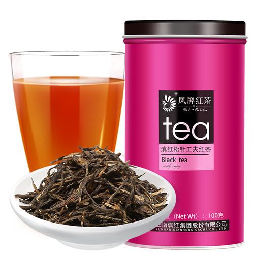 FENGPAI Brand Songzhen Gongfu Hongcha Dian Hong Yunnan Black Tea 100g