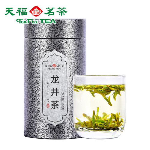 TenFu's TEA Brand Yin Guan Zao Chun Long Jing Dragon Well Green Tea 100g