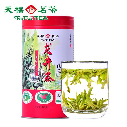 TenFu's TEA Brand Zheng Zong Ming Qian Long Jing Dragon Well Green Tea 100g