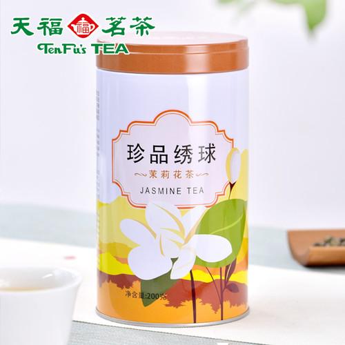 TenFu's TEA Brand Zhenpin Xiu Qiu Long Zhu Pearl Jasmine Green Tea 200g
