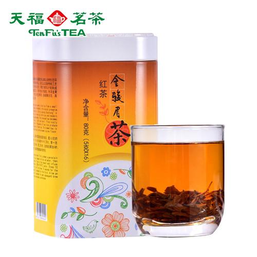 TenFu's TEA Brand Featured Series Jin Jun Mei Golden Eyebrow Wuyi Black Tea 80g