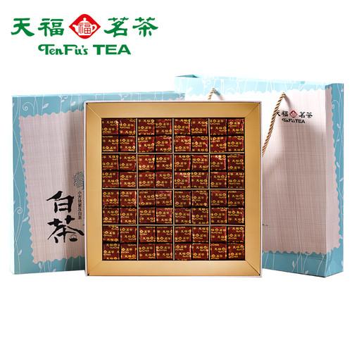 TenFu's TEA Brand Xiao Fang Kuai White Peony Fuding White Tea Brick 384g