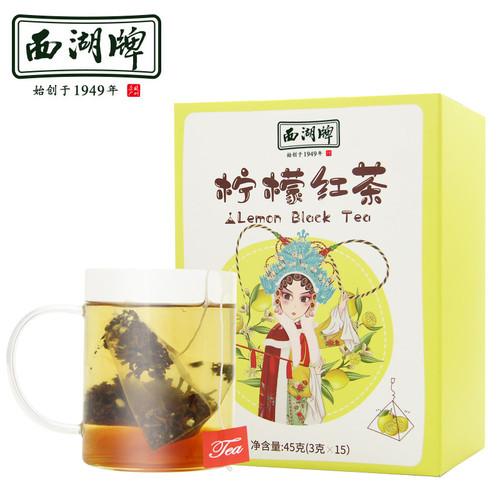 XI HU Brand Lemon Black Tea Tea Bags 45g