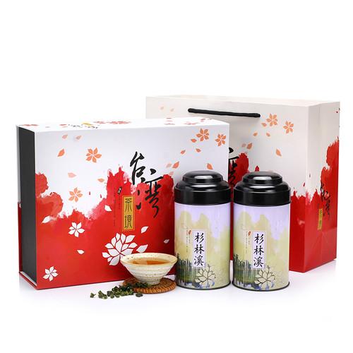 TAIWAN TEA Brand Cha Jing Gift Box Taiwan Shan Lin Xi Oolong Tea 150g*2