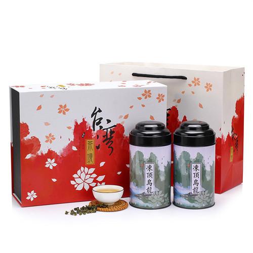 TAIWAN TEA Brand Cha Jing Gift Box Taiwan Dong Ding Oolong Tea 150g*2
