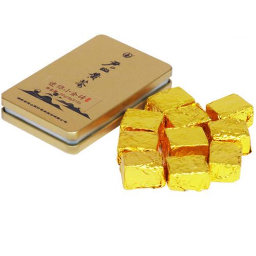 JUNSHAN Brand Jun Shan Huang Cha China Yellow Tea Mini Gold Brick 50g Box