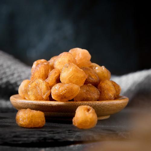 Premium Organic Dried Golden Longan Natural Seedless Fruit 500g