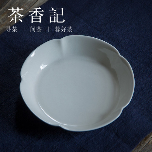 Sunflower Petals Grass Wood Gray Glaze Ceramic Teapot Cushion Teacup Coaster Pottery Drip Tray 183x183x43mm