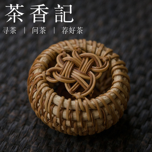 Chinese Knot Bamboo Teapot Gaiwan Lid Holder Stand Kung Fu Tea Ceremony Accessory
