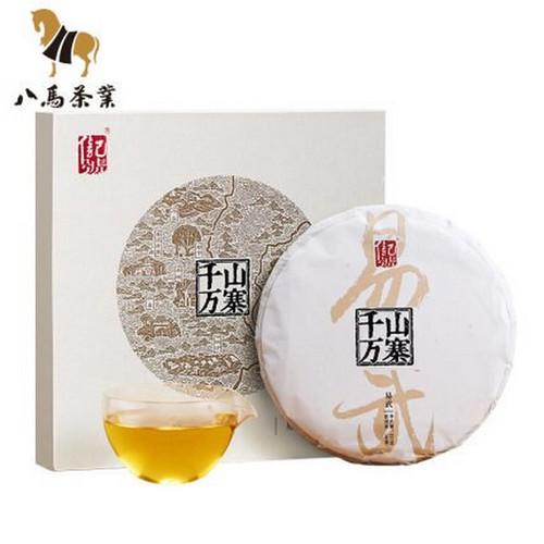 BAMA Brand Qianshan Wanzhai Yi Wu Pu-erh Tea Cake 2019 357g Raw