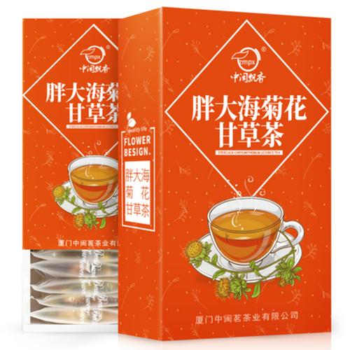 ZMPX Brand Pang Da Hai Chrysanthemum Licorice Herbal Tea Blend 140g*2