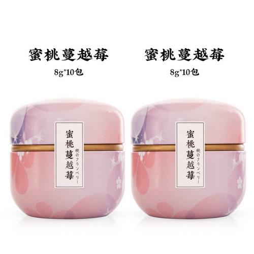 ZMPX Brand Peach Cranberry Fuits Herbal Tea 80g*2