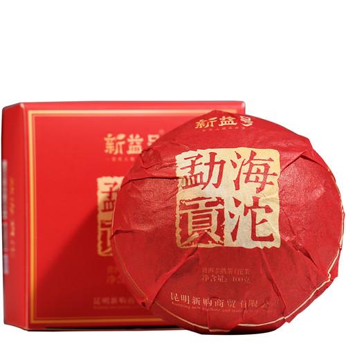 Xin Yi Hao Brand Menghai Gongtuo Pu-erh Tea Tuo 2019 100g Ripe
