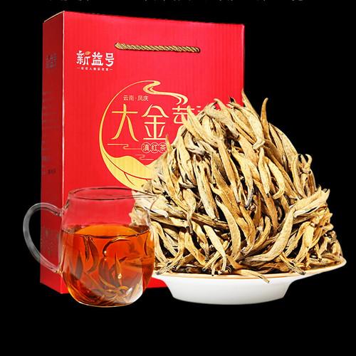 Xin Yi Hao Brand Big Golden Bud Dian Hong Yunnan Black Tea 500g