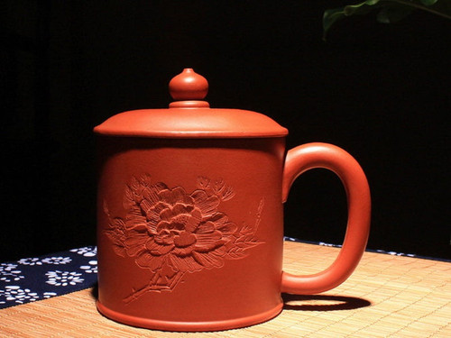 Handmade Yixing Zisha Clay Tea Mug Yizhi 380ml