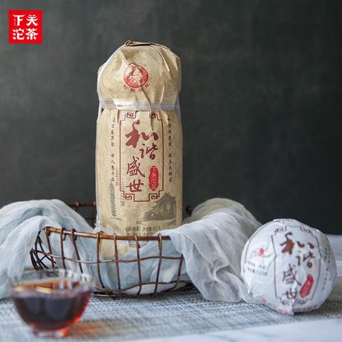 XIAGUAN Brand Hexie Shengshi Pu-erh Tea Tuo 2019 625g Ripe