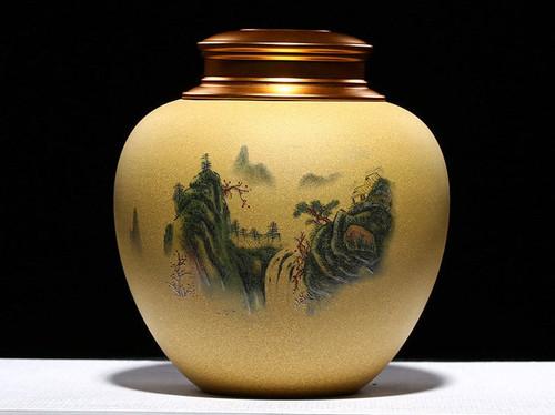 Handmade Yixing Zisha Clay Handmade Canister Jar Container  133x54x145mm