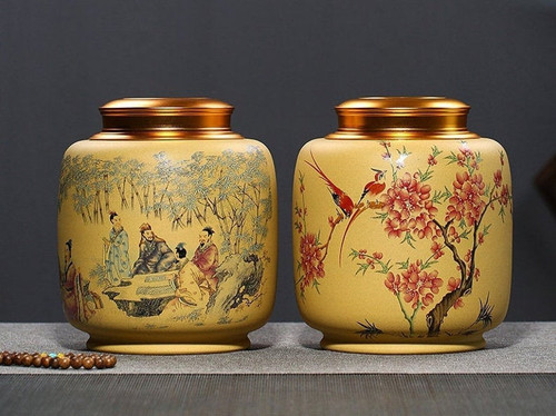 Handmade Yixing Zisha Clay Handmade Canister Jar Container  154x78x176mm