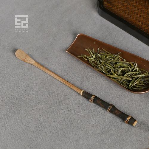 Black Bamboo Chashaku Tea Scoop