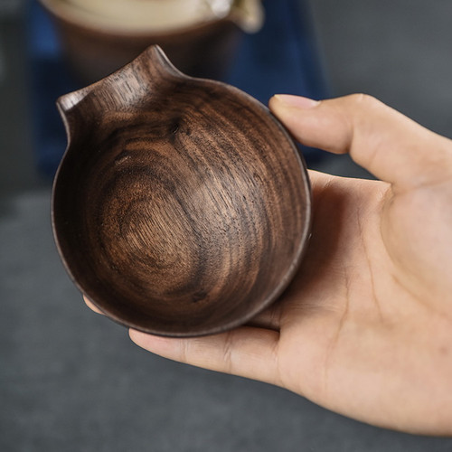 Retro Chanyi Black Walnut Cha He Loose Tea Presentation Vessel