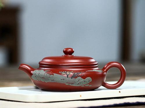 Handmade Yixing Zisha Clay Teapot Shangu 170ml