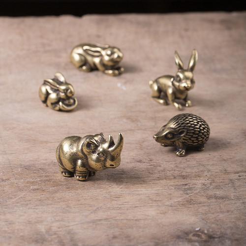 Creative Cute Brass Tea Pet Table Decoration Ornament